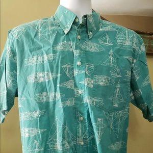 Men's woolrich shirt sleeve button down shirt MED